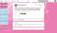 Ted Baker Footwear Featured on Women's Freebees Twitter 24.06.14