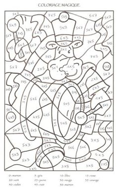 Multiplication Coloring Worksheets 4th Grade Mosaic