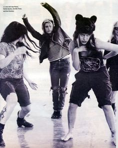 L7 (Dee Plakas, Donita Sparks, Jennifer Finch & Suzi Gardner), Spin Magazine, 1993.    Photo: David Jensen