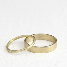 simple wedding rings, white gold.