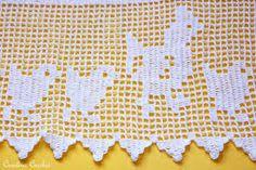 Resultado de imagem para imagens de barrados de croche com motivos de pintinhos
