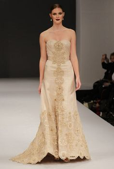 wedding dresses for second marriages over 40 | Gold Wedding Dresses for Brides Over 40, Mature Brides, Second Time ...