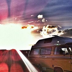 Van in the sun. #campervan #t25 #vw #cyril #vanagonlife #camping #anglesey #wales #sun #sunset #instamood #instagood