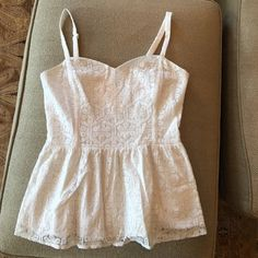 Lilly Pulitzer Top White Babydoll Tank Top Lilly Pulitzer Tops Tank Tops