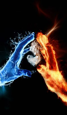 passion born of fire and ice. That looks cool