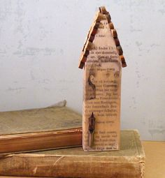 The Writer's House Mixed Media Original  Altered Wood by hopemore, $26.00