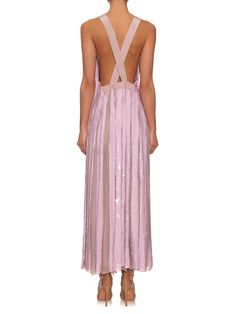 Cross-back sequin-embellished dress | Tibi | MATCHESFASHION.COM