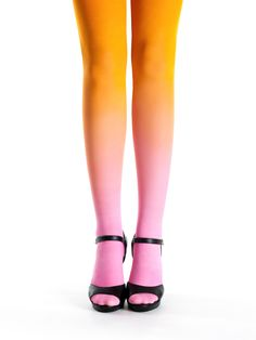Pink-orange Ombre Tights