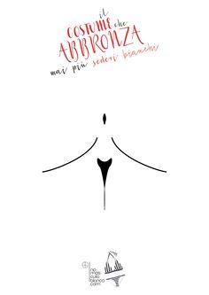 """Advertising to """"no mas culo blanco"""" the new swimsuit for woman and man. #illustration #sdv #poster #advertising #illustrazione #pubblicità #costumi #mare #sea"""