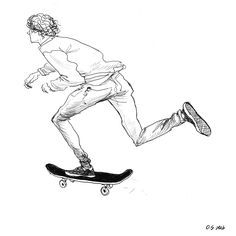 sketchbook. Skate. Illustration.