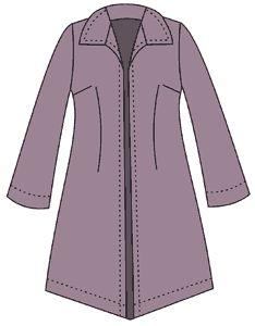 gráfico del patrón de abrigo impermeable