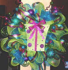 Whimsical Christmas Wreath on Etsy