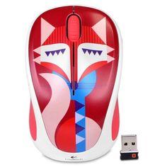 Logitech M317c 2.4GHz Wireless 3-Button Optical Scroll Mouse w-Nano USB Receiver (Felicity Fox)