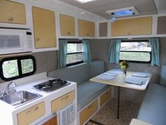 Love this trailer - queen size bed, 2 bunks, and bathroom, all in 16'!