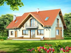 Contemporary Two Storey Home Idea 1 Country House Plans, Small House Plans, Style At Home, Storey Homes, Cute House, Design Case, Home Fashion, Bungalow, Beautiful Homes