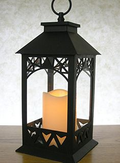 Decorative Lanterns  Black Lantern with LED Pillar Candle and a 5 Hour Timer  Candle Lanterns Outdoor  13H * Click image to review more details.(It is Amazon affiliate link) #culturegram