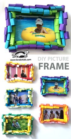children activities, more than 2000 coloring pages Photo Frame Decoration, Picture Frame Crafts, Picture Frames, Art Projects For Teens, Cool Art Projects, Photo Frames For Kids, Easy Arts And Crafts, Diy Crafts, Craft Activities For Kids