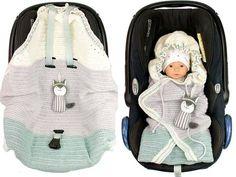 Häkle jetzt für Dein Baby / Enkelkind oder auch als Geschenk für das Kind einer Freundin eine Einschlagdecke für die Babyschale. Sehr praktisch. Leg los.