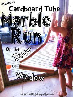 Learn with Play @ home: Cardboard Tube Marble Run