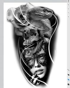 Another design idea. Clock Tattoo Design, Skull Tattoo Design, Tattoo Designs, Face Tattoos For Women, Sleeve Tattoos For Women, Bull Tattoos, Neue Tattoos, Tattoo Pocket Watch, Tattoo Sketches
