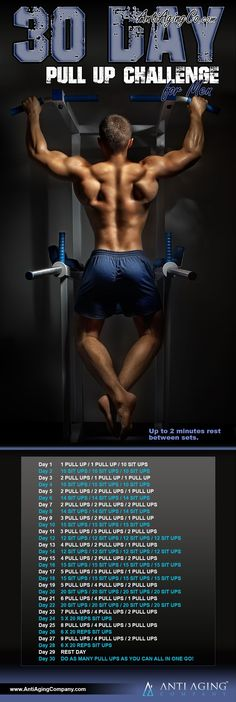 30-Day Pull Up Challenge for Men