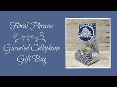 Floral Phrases Gusseted Cellophane Gift Bag - Lisa's Stamp Studio