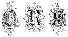 Old English Style Letters : QRS These Old English Style Letters are from Art Alphabets and Lettering by J. Tattoo Fonts Alphabet, Tattoo Lettering Fonts, Lettering Design, Gothic Lettering, Gothic Fonts, Calligraphy Letters, Typography Letters, Caligraphy, Penmanship