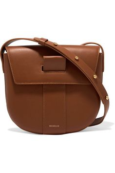 Tan leather (Calf) Magnetic-fastening front flap Made in Italy Fall Bags, f577bf26fe