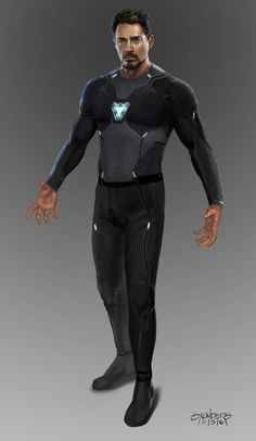 Avengers: Infinity War Concept Art - Iron Man Mk 50 suit-up sequence by Phil Saunders * Iron Man Mk 50 suit-up sequence. Stage one: Original undersuit (design by Josh Nizzi.) The nanotech was intended. Marvel Comics, Marvel Heroes, Marvel Characters, Marvel Avengers, Costumes Marvel, Reactor Arc, Iron Man Arc Reactor, Iron Man Art, Iron Man Wallpaper