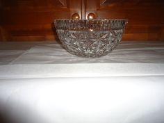 """Waterford Crystal 1970's Fruit/Salad Bowl. Ireland. Old Mark.  8"""" Diameter. #WaterfordCrystal"""