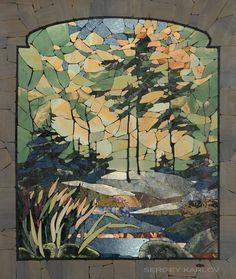 Mosaic Landscape Panel... Станковая мозаика — Сергей КАРЛОВ