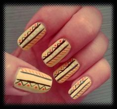 Geometrical and sunny :) #mynails
