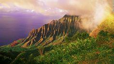 Kokee State Park on Kaua'i showcases the island's lush technicolor landscape.
