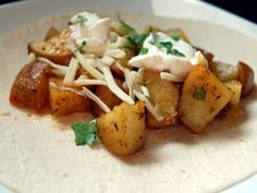 Roasted Potato Tacos ~ doesn't appeal to me, but they're my daughter's favorites at Taco Bell.