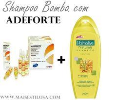 Aprenda como fazer um shampoo bomba sem monovin a e com adeforte que faz o cabelo crescer bem mais rápido.