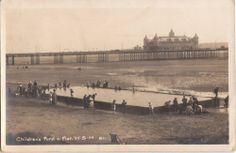 RP WESTON SUPER MARE CHILDRENS POND AND PIER SOMERSET POSTED 1925 Old Photos, Vintage Photos, North Somerset, Weston Super Mare, Bristol, Pond, Paris Skyline, The Past, Travel