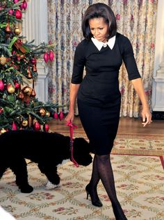 FLOTUS Michelle Obama is perfect in polkas