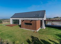 Gabion wall house by Kropka Studio House Landscape, Landscape Walls, Studio Floor Plans, House Cladding, Gabion Wall, Landscape Materials, Modern Barn, Modern Decor, Landscape Pictures