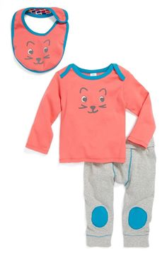 Stem Baby Top, Bib & Pants (Baby Girls)
