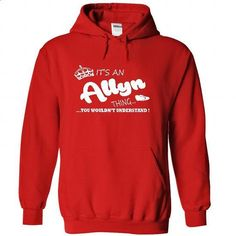 Its an Allyn Thing, You Wouldnt Understand !! Name, Hoo - #tee design #tshirt display. ORDER NOW => https://www.sunfrog.com/Names/Its-an-AllynThing-You-Wouldnt-Understand-Name-Hoodie-t-shirt-hoodies-8052-Red-29452288-Hoodie.html?68278
