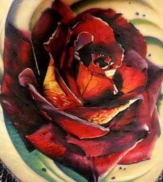 John Barrett - Black 13 Tattoo | Realistic Rose Tattoo.