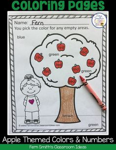 Color By Code Apple Themed Numbers and Colors Worksheets Reading Centers, Math Centers, Math Rotations, Teaching Numbers, Math Groups, Apple Coloring, Color By Numbers, First Grade Teachers, Learning Colors