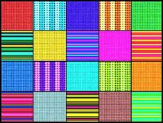 Squares and stripes, large (374 pieces)