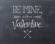 "Valentine's Day Printable ""Chalkboard"" Art"