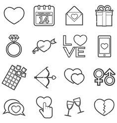 Love icon vector valentine's day - by taesmileland on VectorStock®