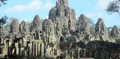 The Bayon temple image look from out side