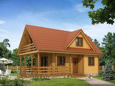 Drewniany, ekologiczny oraz funkcjonalny - idealny dla 4-5 osobowej rodziny. Obejrzyj rzuty! Modern Barn House, Garage Studio, Cool Campers, Wooden House, Home Fashion, Exterior Design, Interior Inspiration, Bali, House Plans