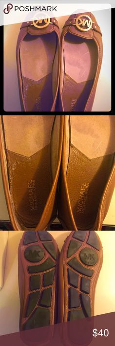 ❌SOLD❌ Brown & Gold Michael Kors Ballet Flats These MK Ballet Flats are scuffed on the back of each (see photo 4) and have some fading inside of them (photo 2). Otherwise they're in perfect condition. MICHAEL Michael Kors Shoes Flats & Loafers