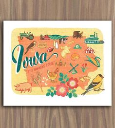 Iowa State Art Print by Anagram Press on Scoutmob