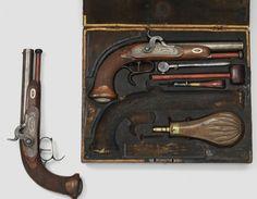 Percussion pistol pair, Swiss, circa 1840